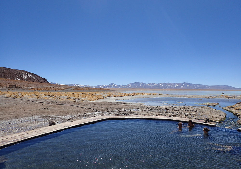 Sources d'eau chaude dans le Sud-Lipez