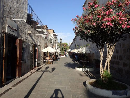 Une petite ruelle à Arequipa