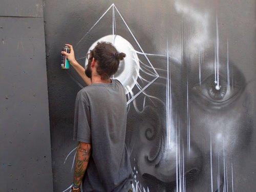 Artiste au Beco de Batman