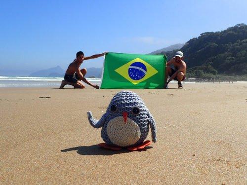Pablo à la plage Lopes Mendes