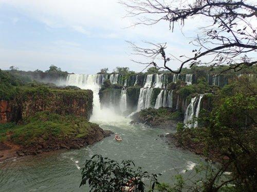 Vue sur les chutes Iguazu