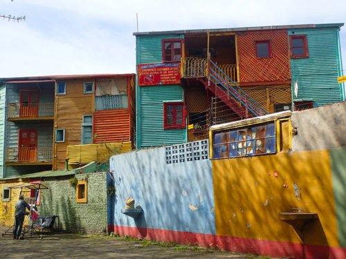Maisons colorées du Caminito à la Boca
