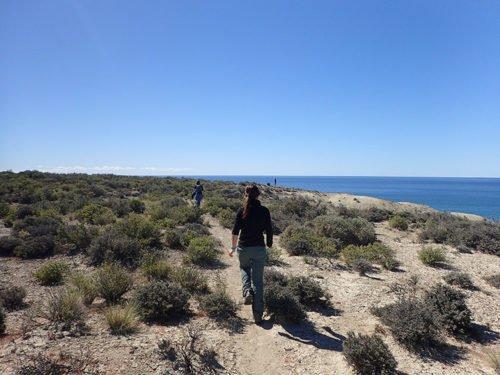 Arrivée à la plage d'El Doradillo