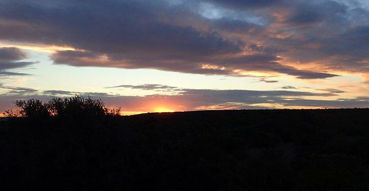 Coucher de soleil sur la péninsule Valdés