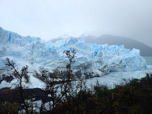 Vue sur le Perito Moreno depuis le sentier inférieur