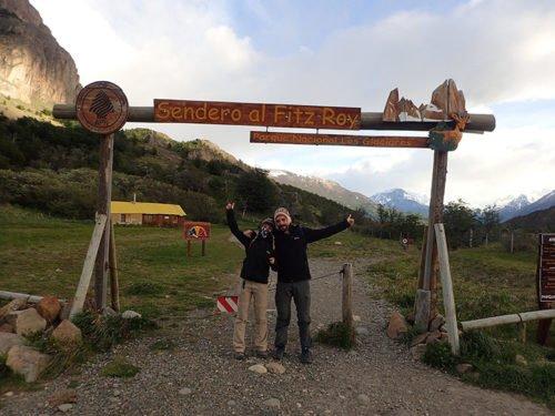 Cédric et Emilie au point de départ du Sendero al Fitz Roy
