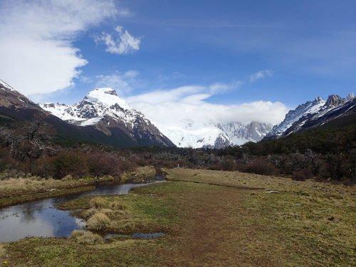 Magnifique paysage pendant la randonnée de la laguna Torre