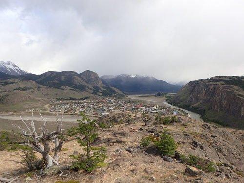 Vue sur El Chaltén depuis le mirador des condors