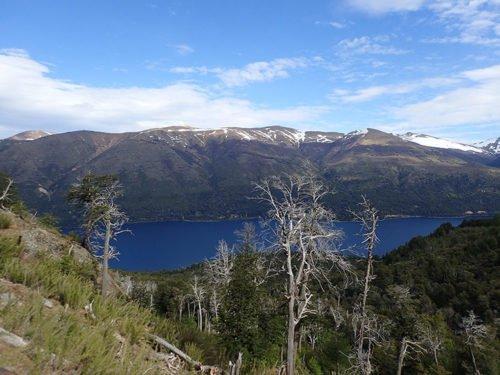 Vue sur le lac Guttiérez et les arbres morts