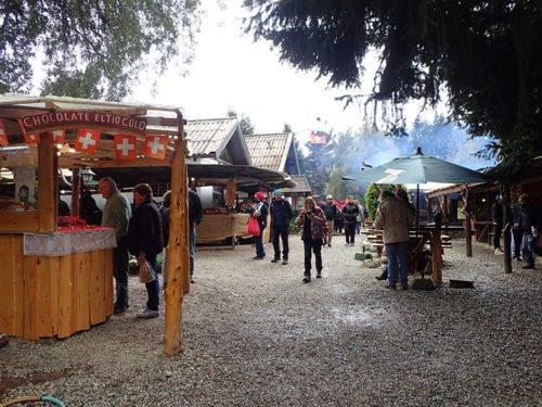 Les stands de la colonie Suisse à Bariloche