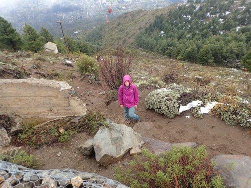 Emilie au Cerro Otto