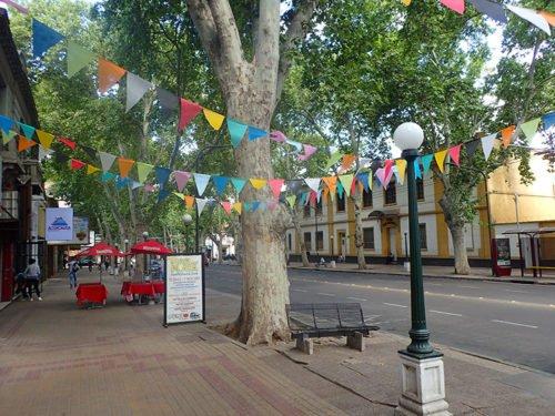 L'avenue Las Heras à Mendoza