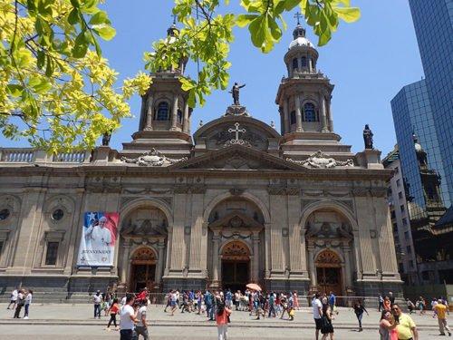 La Cathedral Metropolitana de Santiago du Chili