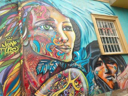 Street art au Cerro Concepcion
