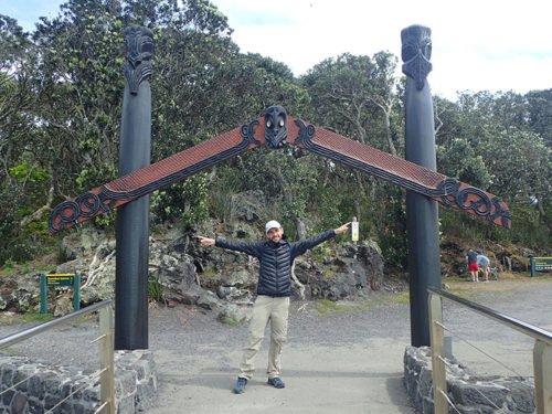 Cédric à Rangitoto Island
