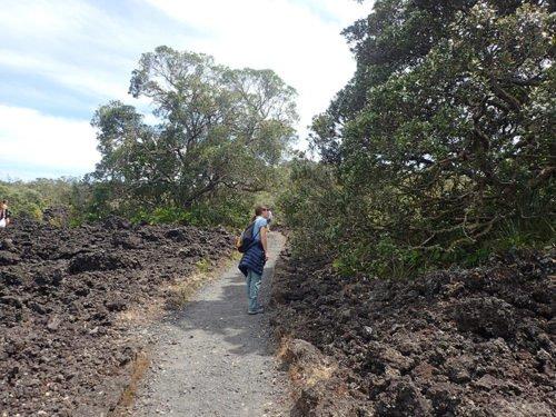 Emilie à Rangitoto Island