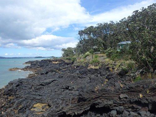 Rangitoto Island et ses coulées de lave solidifiée