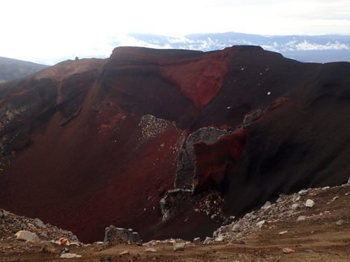 Cratère rouge au Tongariro