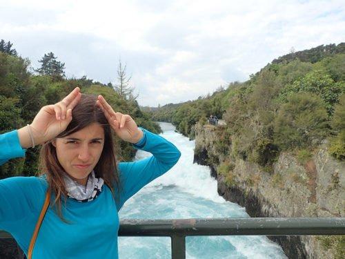Emilie aux Huka Falls