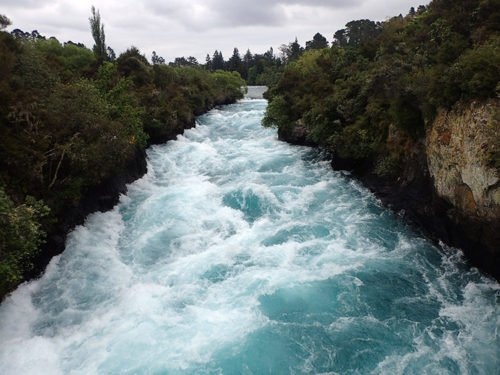 Les Huka Falls à Taupo