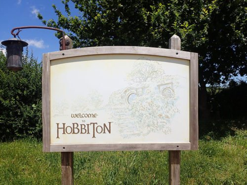 Panneau Welcome to Hobbiton
