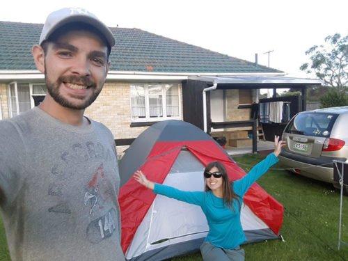 Premier montage de tente en Nouvelle-Zélande
