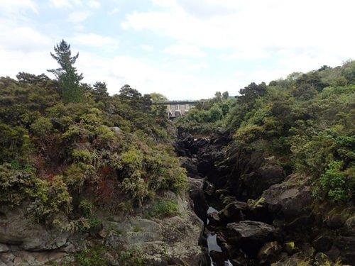 Les rapides d'Aratiatia avant l'ouverture des vannes