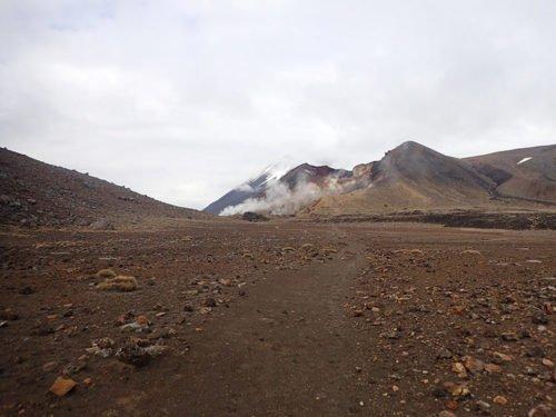 Paysage lunaire de la Tongariro Alpine Crossing
