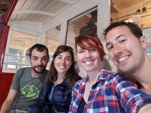 Alex, Fabien et les Avencurieux dans le Wellington Cable Car