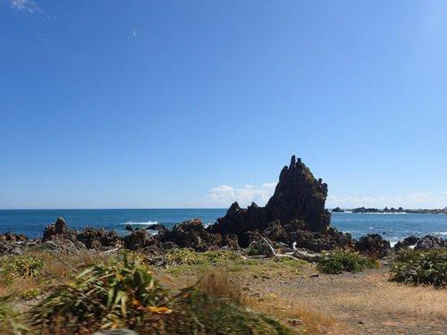 Le bord de mer pendant notre tour de la péninsule de Miramar
