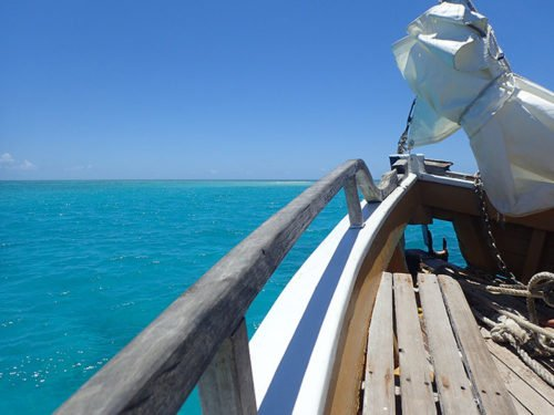 Eau turquoise près de la Grande Barrière de Corail