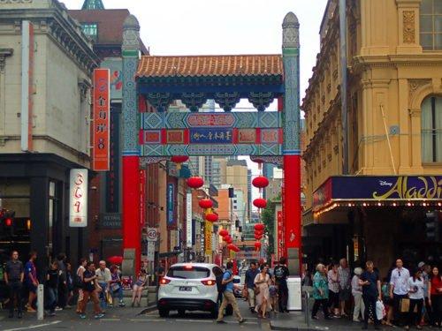 Le quartier de Chinatown à Melbourne