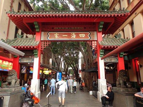 La porte d'entrée de Chinatown