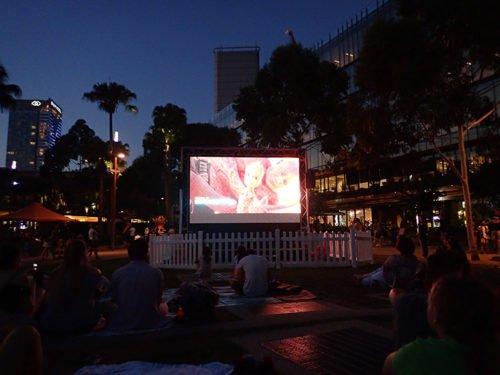 Cinéma en plein air à Sydney