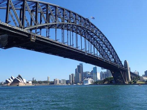 La vue de l'autre coté du Harbour Bridge