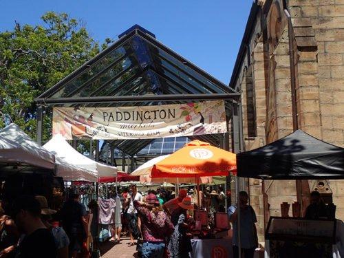Les nombreux stands d'artisans locaux du Paddington Market
