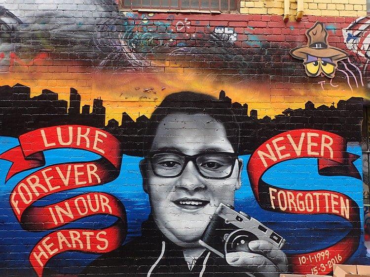 Fresque près du Queen Victoria Market à Melbourne