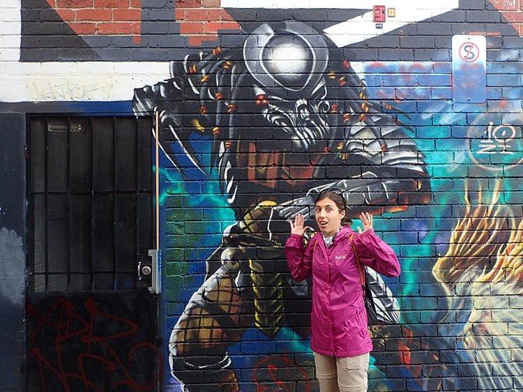 Street art Predator à Melbourne