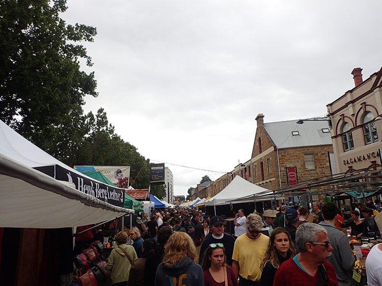 Le marché de Salamanca à Hobart
