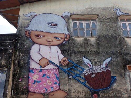 Street art à Phuket Town