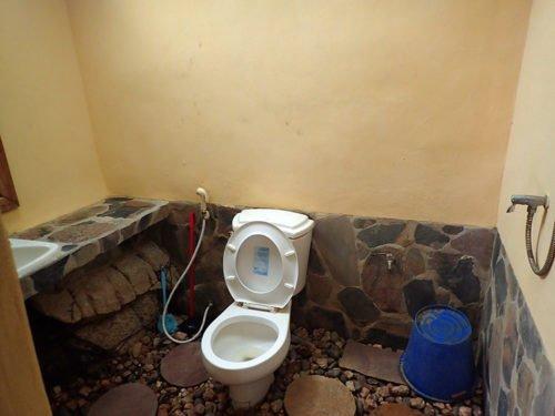 Salle de bain avec douchette
