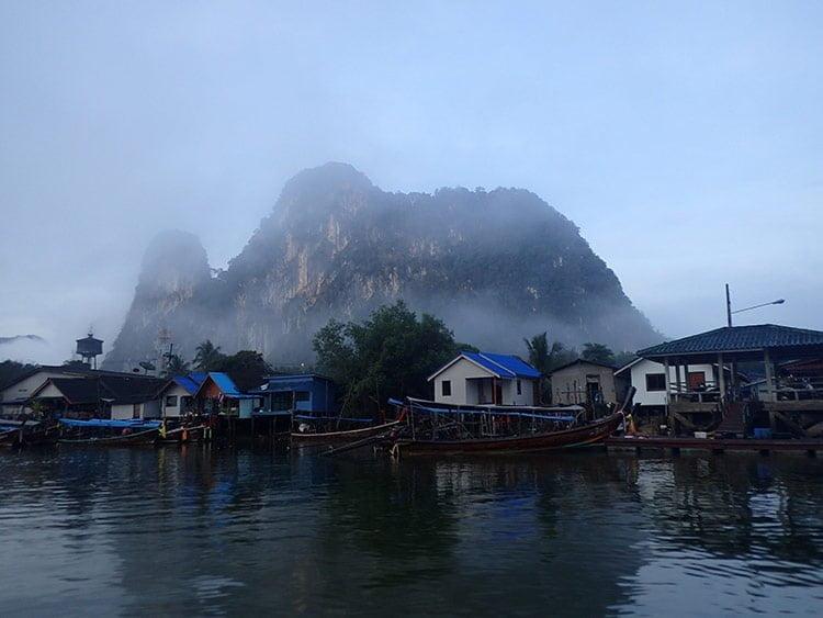 Le petit village de pêcheurs de Phang Nga