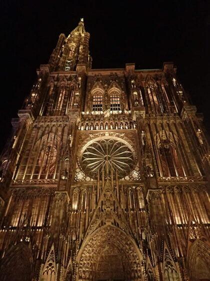 La Cathédrale de Strasbourg, de nuit