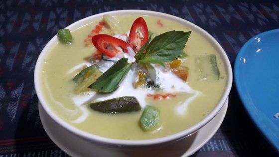 Curry vert au Pawn's Restaurant