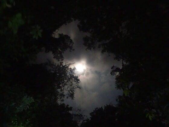 La Lune nous éclaire durant notre périple