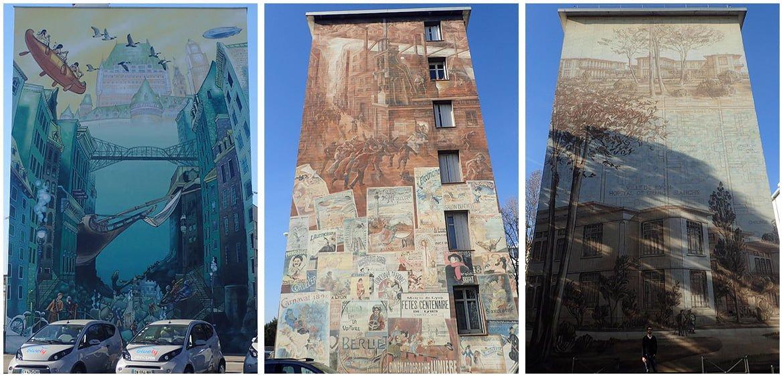 Les murs peints du musée urbain Tony Garnier