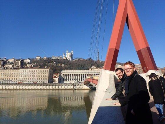 Passerelle piétonne du Palais de Justice à Lyon