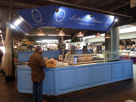 Le stand de la Maison Seguin au marché des Capucins