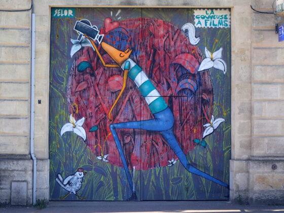 Street art de renard à la Couveuse à Films