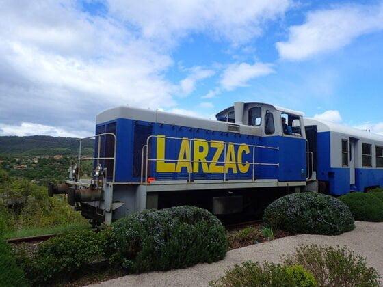 Le train touristique du vélorail du Larzac